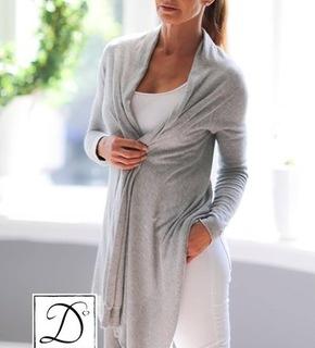 Dehn Design Zara jakke med sjaleffekt